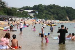 【海水浴】沙弥島海水浴場