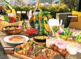 福岡県産の新鮮な野菜を使った彩り豊かな料理が並ぶ