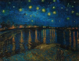 ゴッホの「ローヌ川の星降る夜」