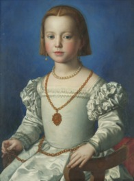 メディチ家のお抱え画家ブロンズィーノが描いた《ビア・デ・メディチの肖像》も日本初公開