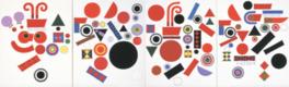宇治山哲平が1972年に制作した作品「弾む」(部分)
