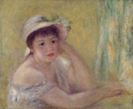 ルノワールの特徴でもある女性が描かれた「麦わら帽子を被った女」