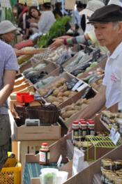 生産者の顔が見える地産地消のマーケット
