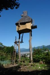 藤森は、自然素材や植物を用いて独創的な建築物を作り続けている