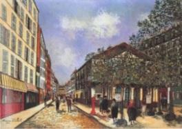 フランスの画家モーリス・ユトリロの詩情的な風景画