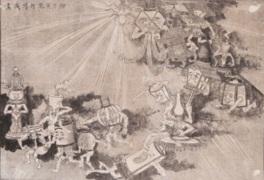 「燈下百鬼行列戯画」(福岡市博物館所蔵)など珍しい資料を展示