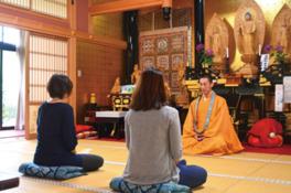 両子寺で坐禅体験