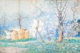 明治の風景水彩画家の第一人者で、山岳画家としてもその名を知られている