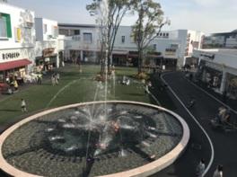 施設内の「セントラルパーク」では噴水ショーも行っている