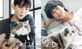 愛くるしいネコと若手俳優の癒しのコラボレーション