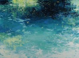 花や植物、水面などの物体にあたり反射する光を題材として作品を生み出している