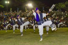 青年エイサーの部には名護市内の青年会と名桜エイサー、沖縄市山里青年会の2団体が友情出演する