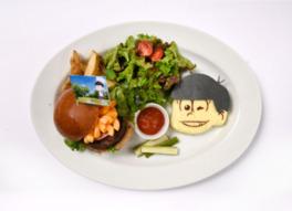 おそ松「グルメバーガープレート」(1690円、税抜)