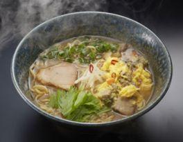 行列店・一粒庵の「げんきのでるみそラーメン」(1人前:900円)は長期熟成の北海道産みそを使ったコクの深いスープが特長
