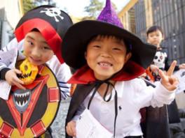 かわいらしい子ども達の仮装コンテストも開催