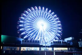 札幌の夜を照らす観覧車