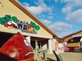 直売所には、能勢町産の新鮮な農産物が並ぶ