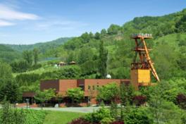 1977年まで稼働していた夕張炭鉱跡地を利用