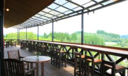 景色を眺められるバルコニーがある展望喫茶