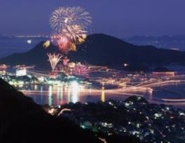 福山鞆の浦弁天島花火大会