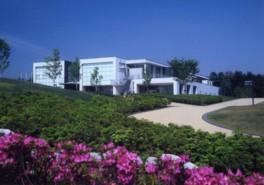 美しく整えられた草木が美術館を彩る