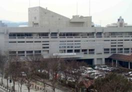 1960年に丹下健三が倉敷市役所として設計した建物を美術館に転用