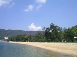 広く伸びた砂浜と透明度の高い海が美しい