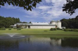 四季折々の美しい変化が楽しめる自然に囲まれた美術館