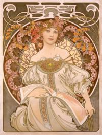 華麗な曲線で彩られた女性が美しい代表作「夢想」