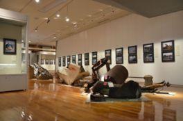 東日本大震災の現場で撮影した記録写真なども展示