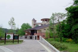 甲賀市みなくち子どもの森の入口近くにある自然館