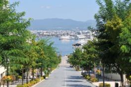 青函連絡船記念館摩周丸が正面に見える