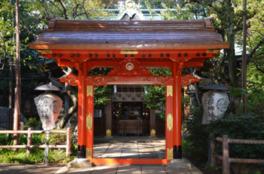都心にひそむ緑豊かな神社