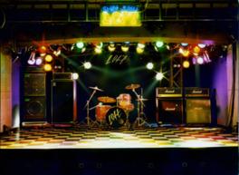 伝説的なライブが数多く行われたステージ