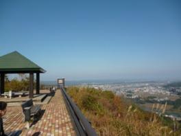 信濃川を見下ろすロケーション