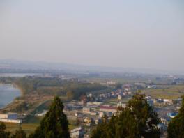 社殿近くの展望台からの眺め