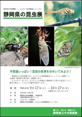 企画展「静岡県の昆虫展」(静岡...