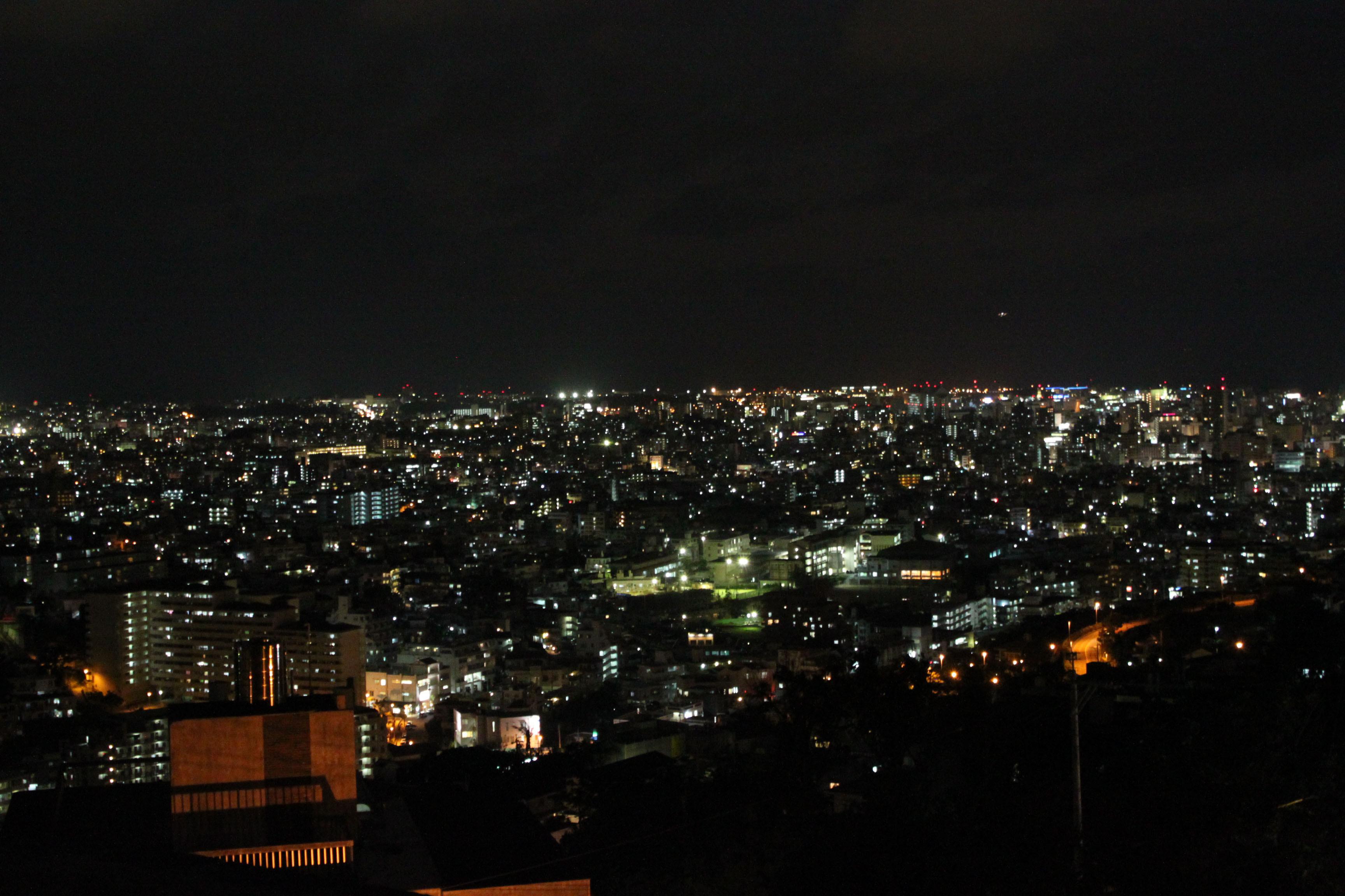 首里城公園 西のアザナから見晴らす那覇市街の街明かり