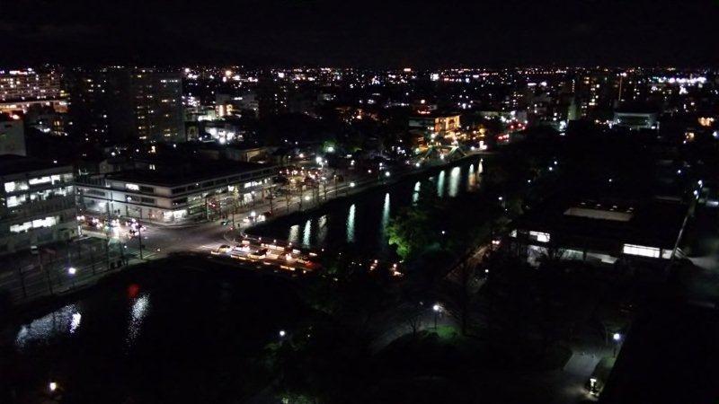 展望ホールから見た東方面の夜景