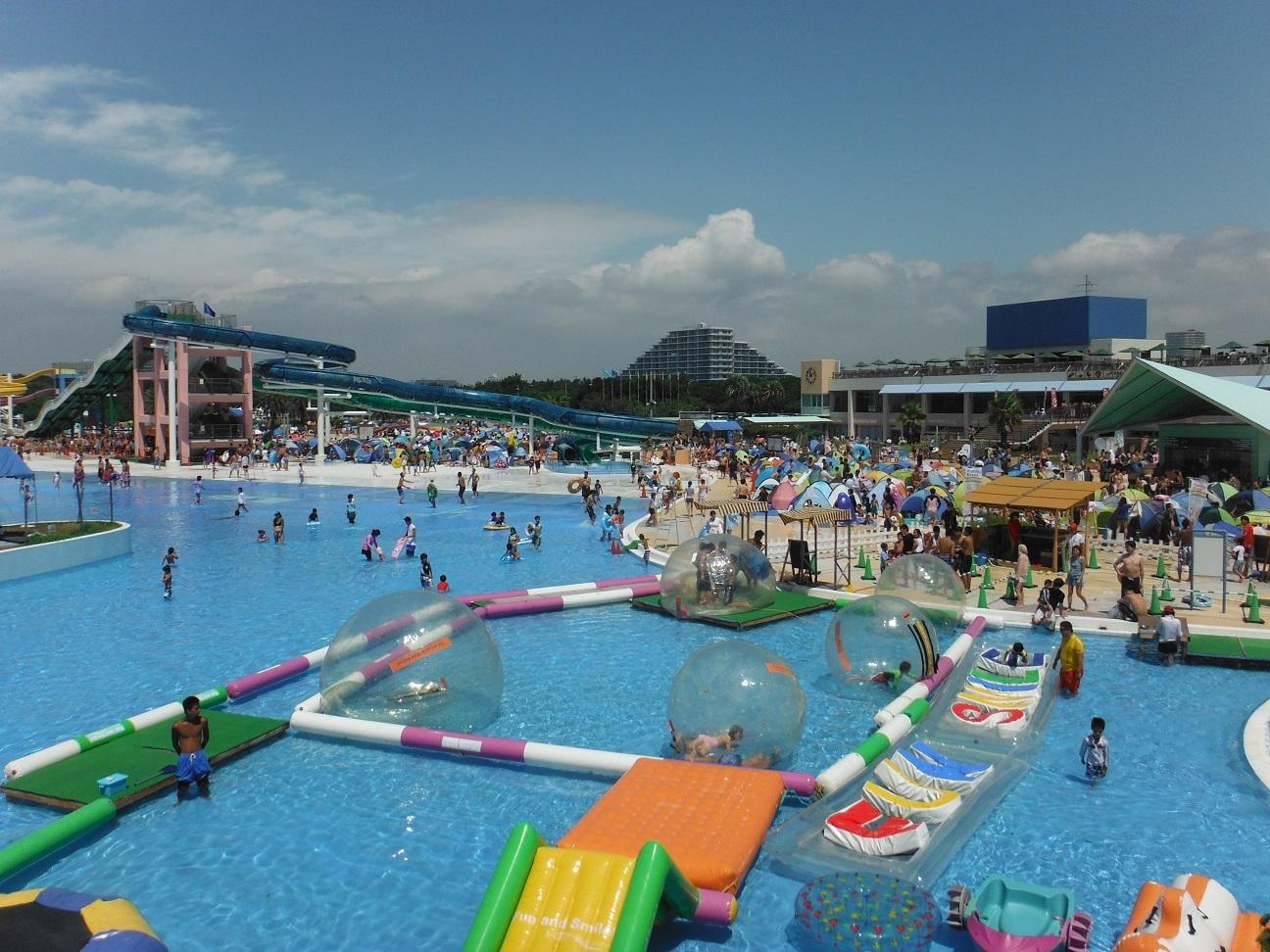 千葉県内の激アツなプールその1稲毛海浜公園プールのアクティビティ