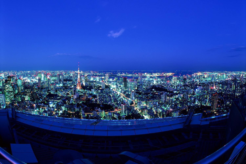 東京タワーと晴海方面を望む