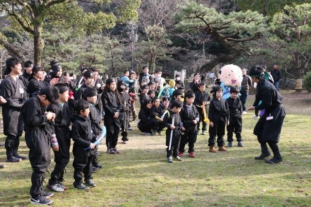 和歌山城で忍者修行!